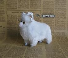 mini simulation sheep toy creative polyethylene & furs sheep doll gift about 12x6x12cm