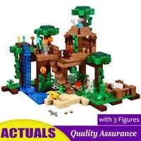 The Jungle Tree House Compatible legoed 21125 My World Building Blocks Animal Model Kids Education Toy