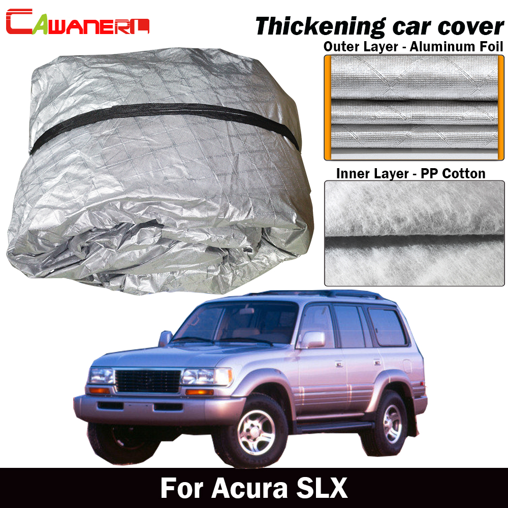 Cawanerl For Acura SLX Thick Cotton Car Cover Waterproof Anti-UV Sun Shade Rain Snow Hail Resistant SUV Cover