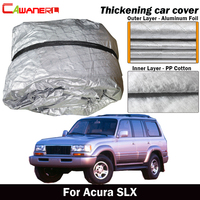 Cawanerl For Acura SLX Thick Cotton Car Cover Waterproof Anti UV Sun Shade Rain Snow Hail Resistant SUV Cover