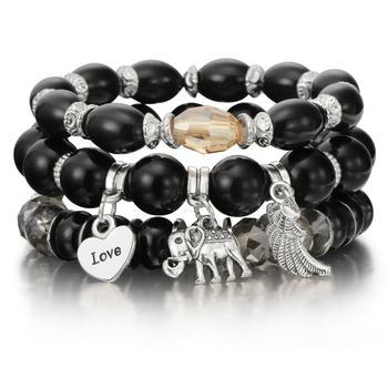 Women's Boho Style Stone Charm Bracelet Bracelets Jewelry New Arrivals Women Jewelry Metal Color: sl1035