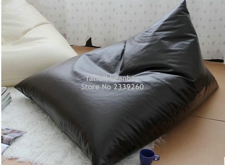cover only no filler black back support bean bag chair newspaper reading beanbag sofa seat in. Black Bedroom Furniture Sets. Home Design Ideas