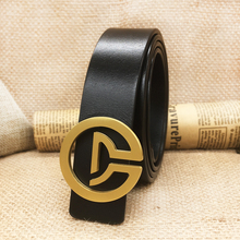 2017 new fashion designer Luxury brand belt for men jeans high quality Genuine leather solid brass buckle free shipping width3.3
