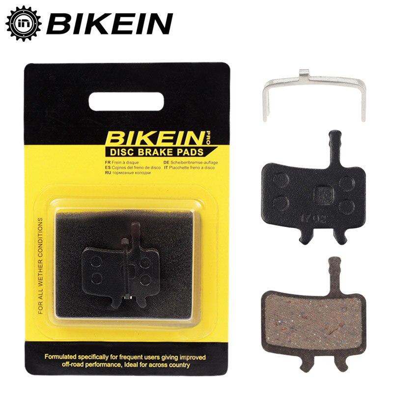 BIKEIN 2 Pairs Bike MTB Road Black Resin Disc Brake Pads For AVID BB5 Hydraulic