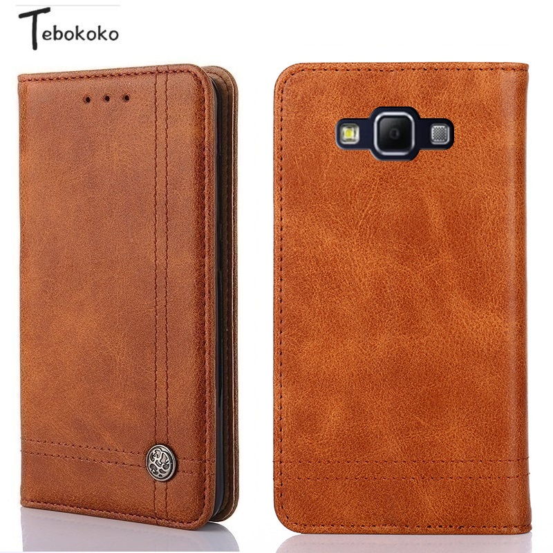 Leather Case for Samsung Galaxy A5 A7 A8 Cover Vintage Business Wallet Flip Case for Samsung Galaxy A5 A500 A7 A8 2015