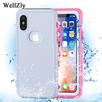 Pink Scrub For Iphone 7 Plus Case Dust Proof Shockproof Swim Surf Diving Waterproof Level IPX68