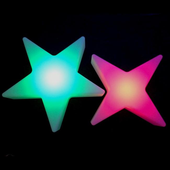 L40 * W40 * H12cm Cinque Star Luci notturne 16 cambiamento Di colore Di scintillio Star ricaricabile Impermeabile Decor Lampade Trasporto libero 5 pz/lotto