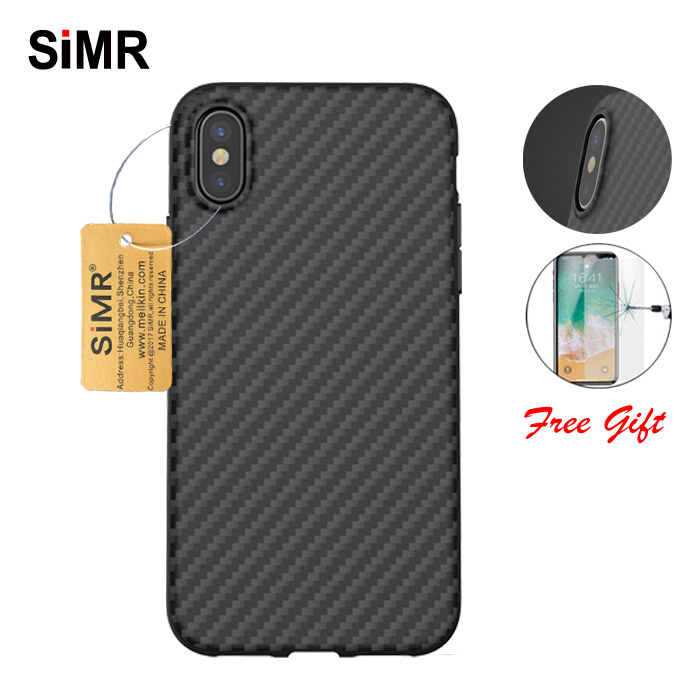 SiMR 100 Real Carbon Fiber Case For iPhone X 0 7mm Luxury Case Full Camera Protect