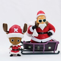 10 13CM Japanese anime figure one piece Santa Claus Tony Tony Chopper Master Roshi action figure collectible model toys