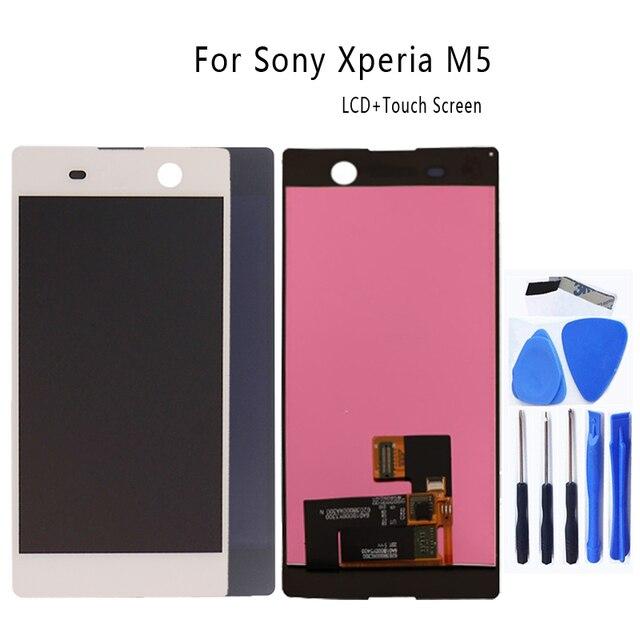 Per Sony Xperia M5 LCD display originale per Sony Xperia M5 A CRISTALLI LIQUIDI di tocco digitale dello schermo di E5603 E5606 E5653 del telefono mobile accessori