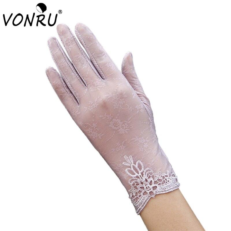 New Female Gloves Anti-UV Sunscreen Lace Gloves Wom