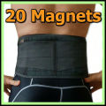 Back Brace Support Belt Men Medical Corset Back Lumbar Support 20pcs Magnets Massager Waist Protection Magnetic Theropy AFT-Y020