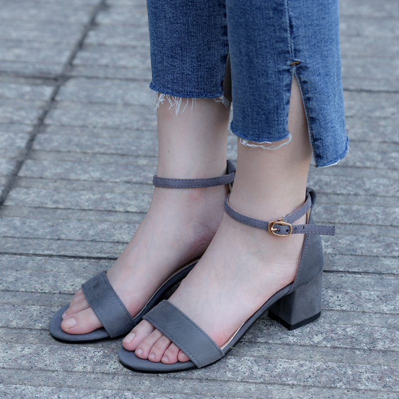 Women Sandals 2017 New Summer Fashion Pumps Women Shoes Beach Sandals Solid Black Pink Gray High Heels Gladiator Casual Shoes kuidfar wedges sandals gladiator sandals fashion women summer shoes low heels women casual sandals ladies shoes women