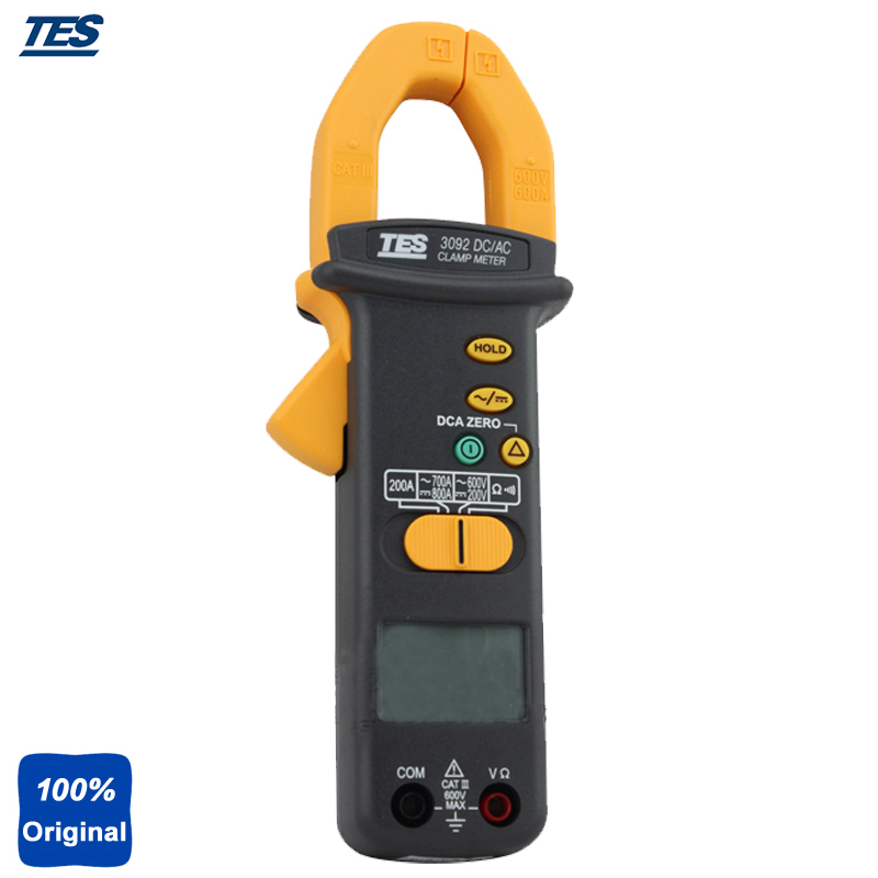 TES-3092 Portable 3-1/2 Digital LCD, 2000 Count DC/AC Clamp Meter Tester ab 3092