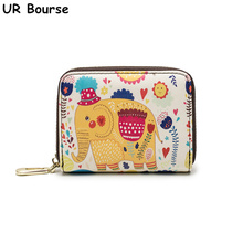 UR BOURSE New Womens Cartoon Cute Wallet Ladies Multi-card Purse Female Simple Coin Girls Short Mini Card Holder