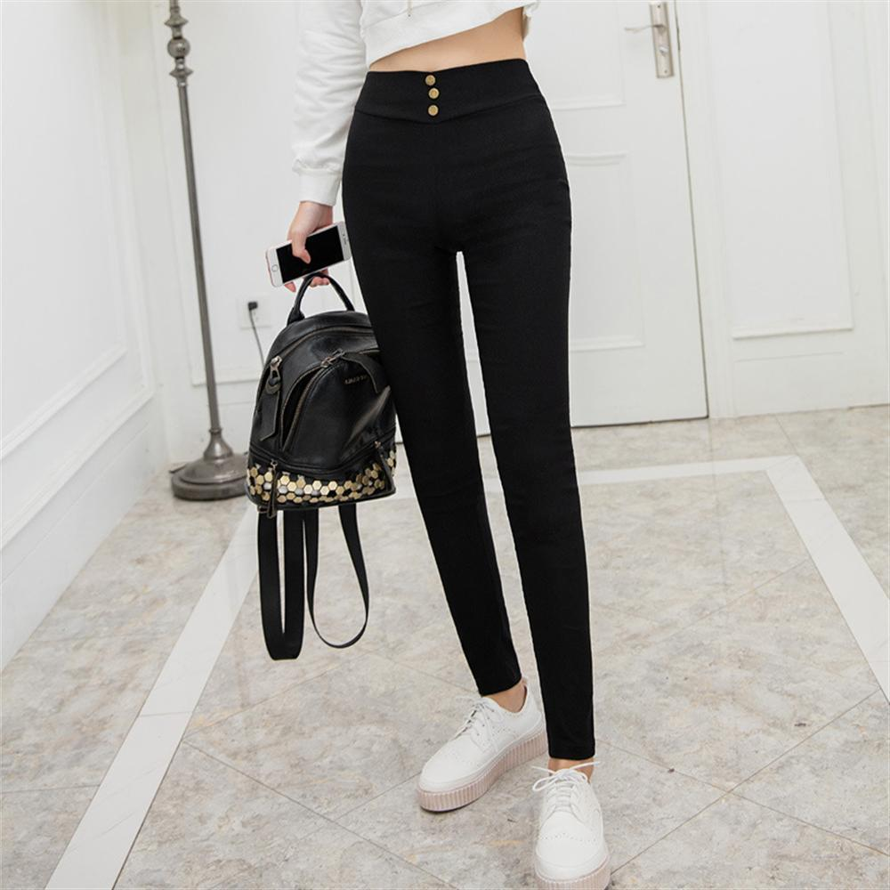 2018 Woman Legging Pants High Elastic Elegant Black High Waist Female Stretch Pencil Pants Females Casual Slim Trousers Women 1