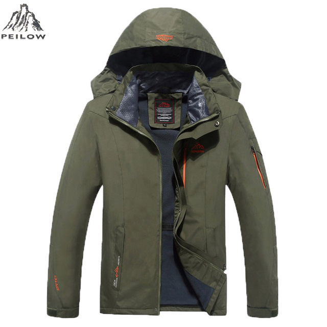 PEILOW Big Size 6XL 7XL 8XL spring Male Jacket design Man's Waterproof Windproof Warm Coat Jacket Jacket Men Casual Jackets