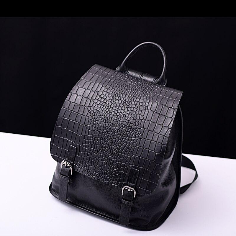2 Size Genuine Leather Women s Backpacks Ladies Girl s Backpack Top Layer Cowhide School Bag
