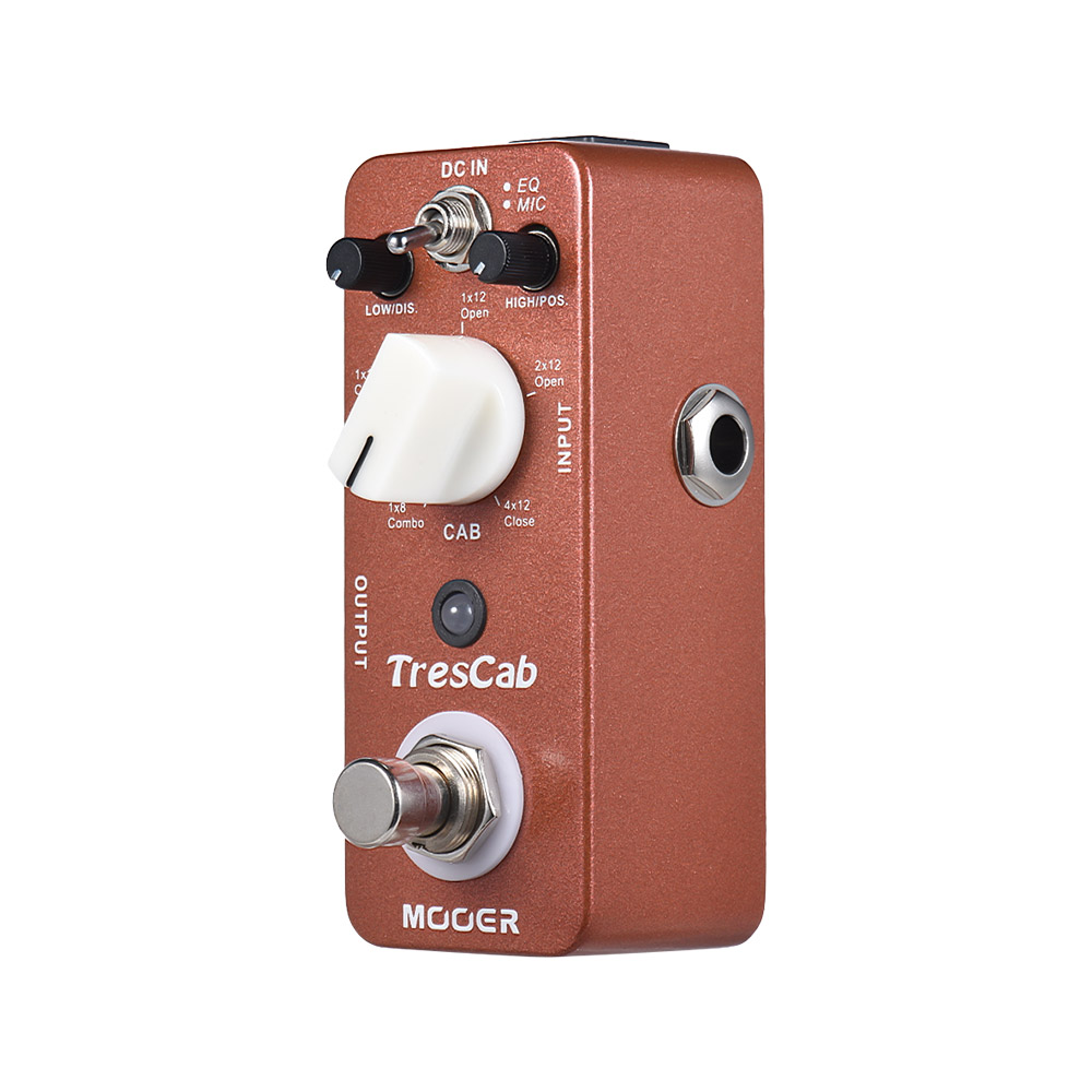 mooer trescab cabinet simulated electric guitar pedal simulator guitar effect pedal true bypass. Black Bedroom Furniture Sets. Home Design Ideas