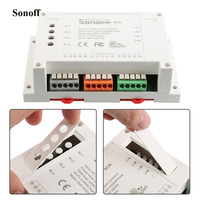 2017 NEW Smart Home Automation WIFI Switch Sonoff 4CH 4 Gang Din Rail Mounting WiFI Switch
