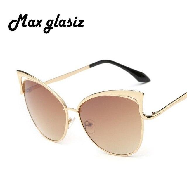 bd9d174453 Cat Eye De Luxe En Métal lunettes de Soleil Femmes lunettes de Soleil Rétro  Vintage Mode