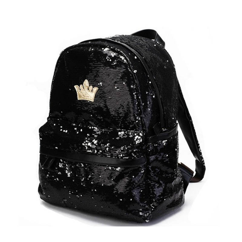 2017 Fashion Girls Sequins Backpack Womens Paillette Leisure School Bags Travel Backpack For Teenage Girls Back