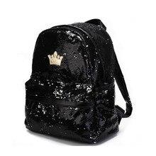 Мода 2017 г. блестками для девочек рюкзак женский блестка Досуг школьные сумки для путешествий рюкзак для девочек-подростков Back Pack качество