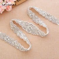 Rhinestones Wedding Belt 35inch Length Bridal Belt Pearls S Crystal Bridal Sash For Wedding Dresses J156S