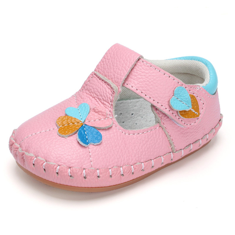 XQT.GZ Baby Shoes Spring Autumn Genuine Leather Baby Footwear 0-1Y Baby Girl Shoes Toddler Soft Sole Shoes First Walkers