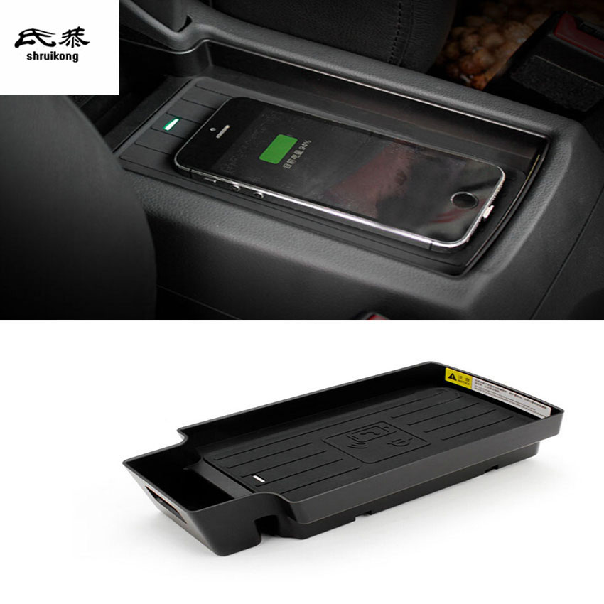 1lot Mobile phone wireless charging Central Armrest storage box for 2013 2017 AUDI Q3