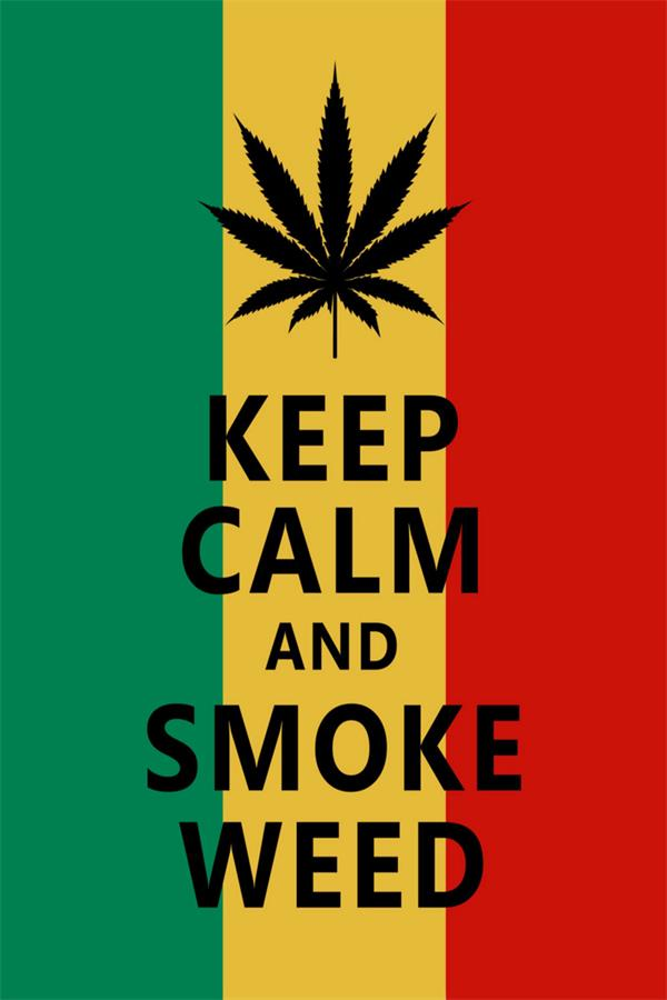Custom Canvas Wall Decor Funny Wall Stickers Keep Calm And Smoke Weed Poster Keep Calm Wallpaper