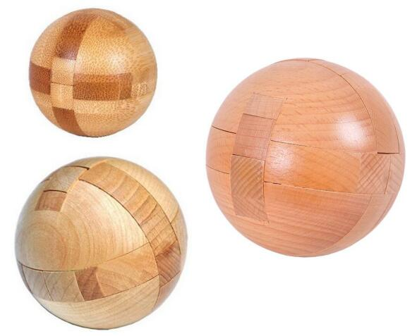 Classic Wooden Ball Puzzle Wood Burr Interlocking Game for Adults Kids