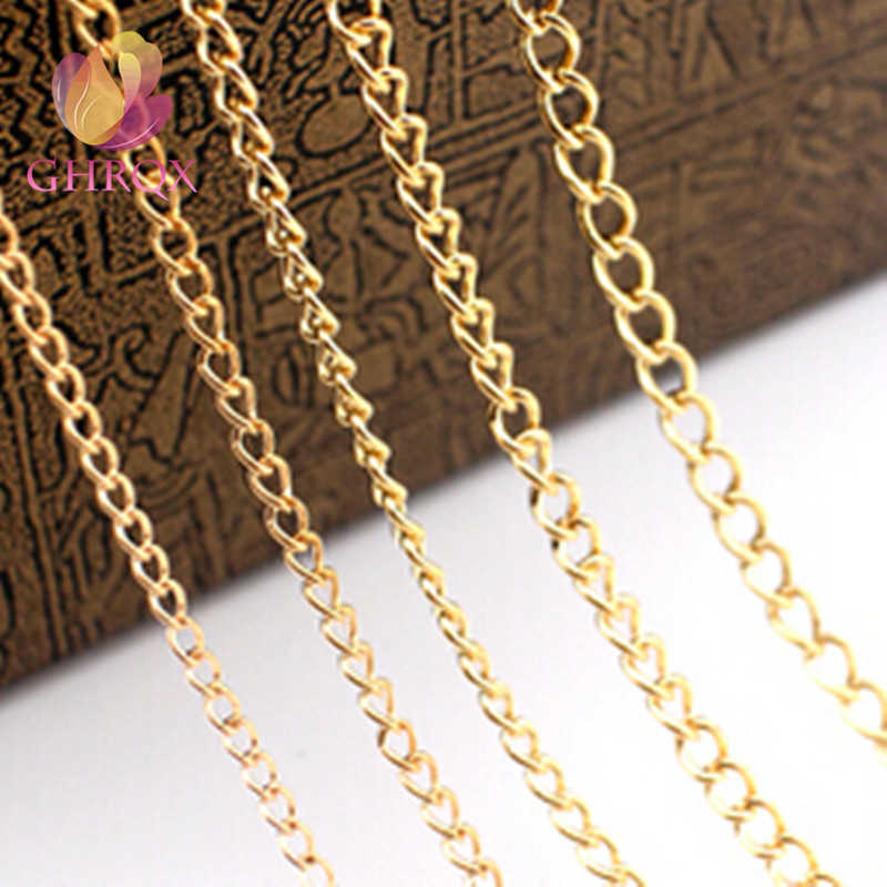 GHRQX HOT 2m 06(2mm) Gold /Sliver/ bronze Chain Necklace Body chain makeing Chain For Jewelry Making DIY Material Findings osc 5032 2m 2mhz 2 000mhz 5x3 2mm page 1