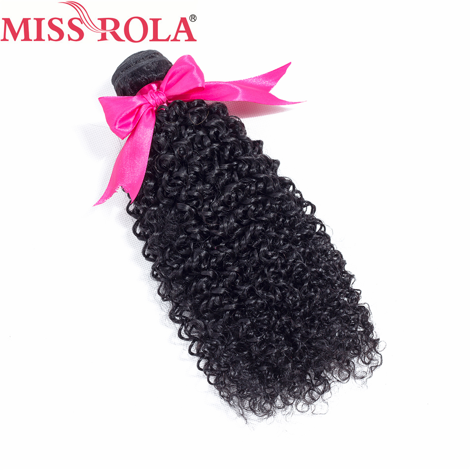 Miss Rola Hair Brazilian Kinky Curly Hair 1 Bundle 8-26 Inches 100% Human Hair Sew In Hair Extensions Natural Black Non-Remy