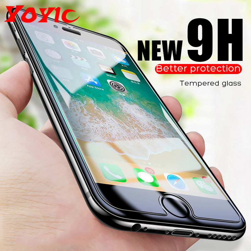 Protective Glass On The For iPhone 6 7 5 5S SE 6s XS max XR 8 Plus Glass screen protector Tempered Glass For iPhone 7 6 8 Plus