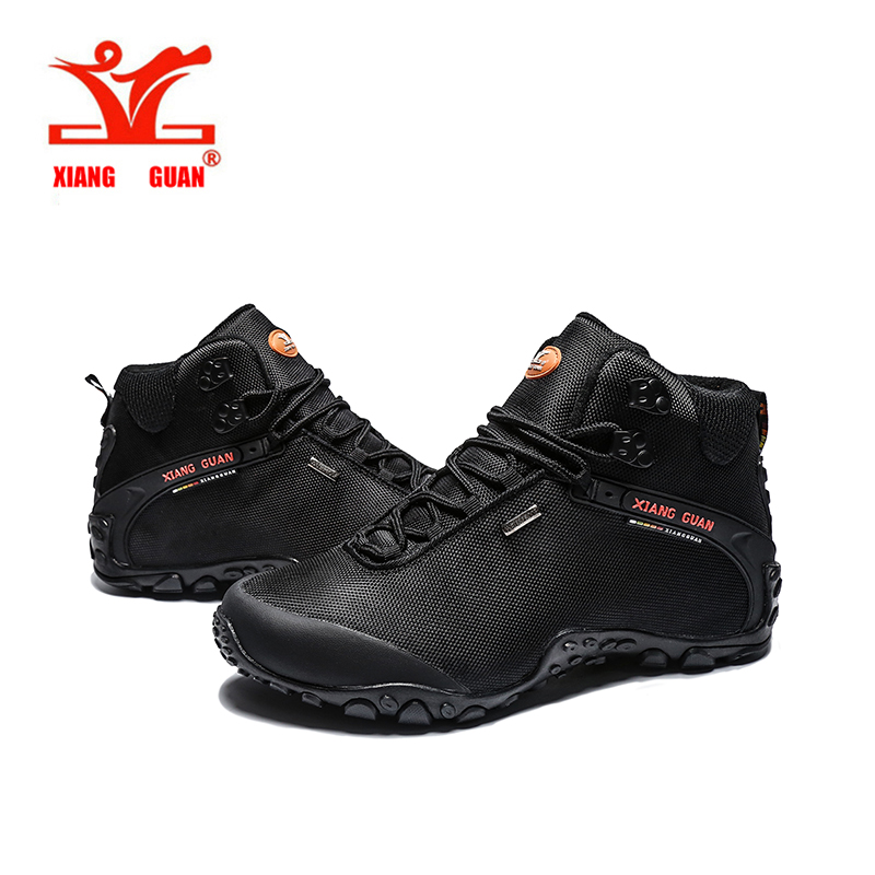 ФОТО Xiangguan High Top Hiking Shoes,mens Waterproof Hiking Boots Outdoor Athletic Terrking Shoes Women's Camping Walking Shoes