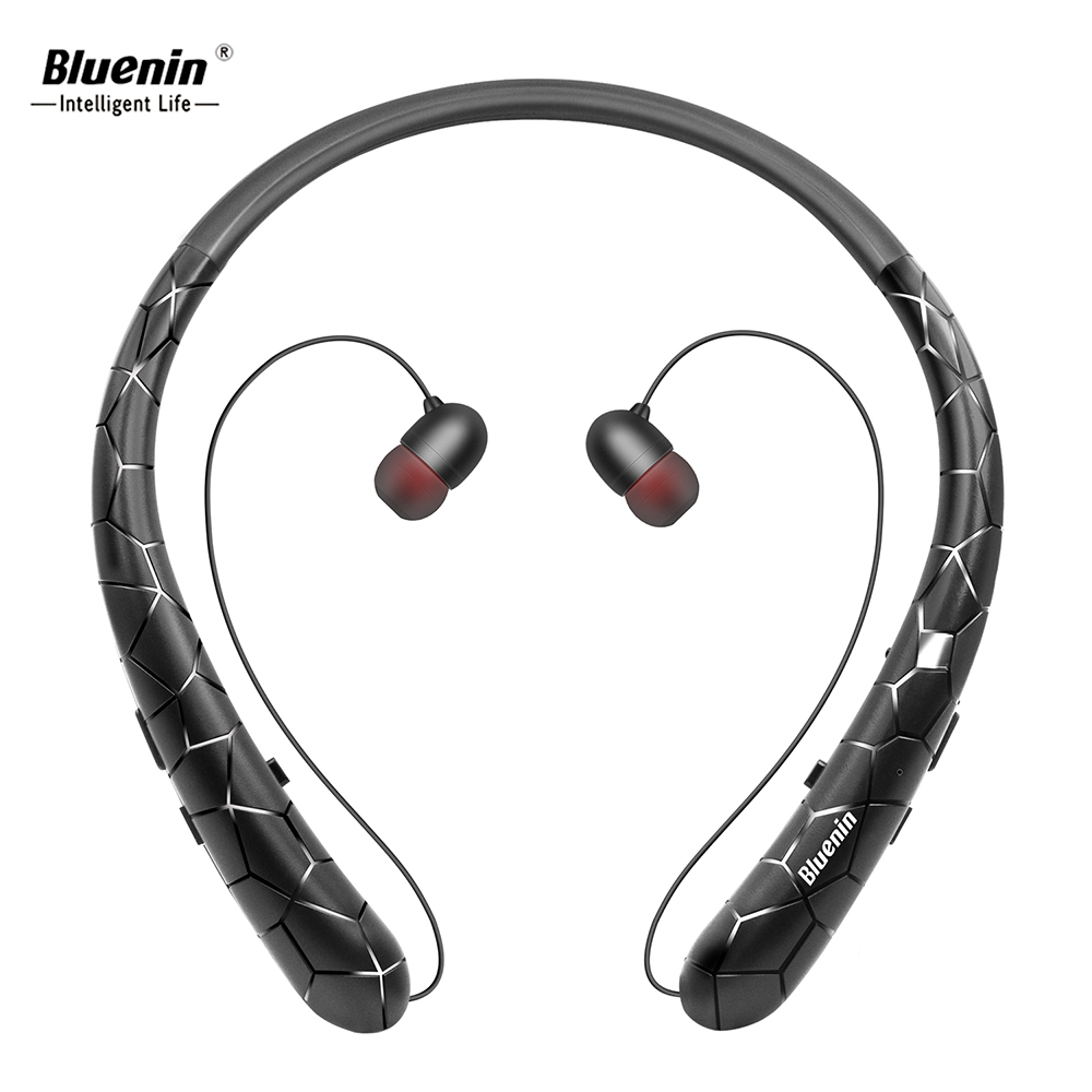 Bluenin V4.1 Sport Earbuds aptX Stereo Gym Headphones CVC 6.0 Noise Cancelling Bluetooth Earphone Vibrating Alert Built in Mic image