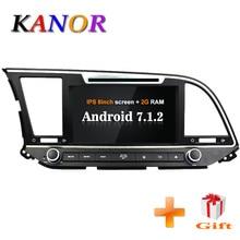 KANOR Android 7,1 Оперативная память 2 г 2din автомобильный DVD Радио для hyundai Elantra 2016 мультимедийный плеер WFFI МЖК Карта BT аудио двойной Дин gps