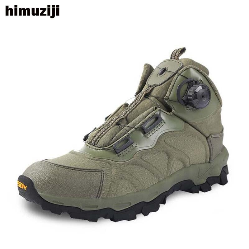 Bottes de Combat militaires tactiques de marque en plein air réaction rapide BOA respirant hommes chaussures armée bottines chaussures d'escalade de sécurité