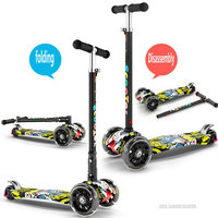Детская kick скутер для маленьких детей ПУ 4 колеса Fashing открытый игрушка 2 12years старый Бодибилдинг разборки пластиковые высоте