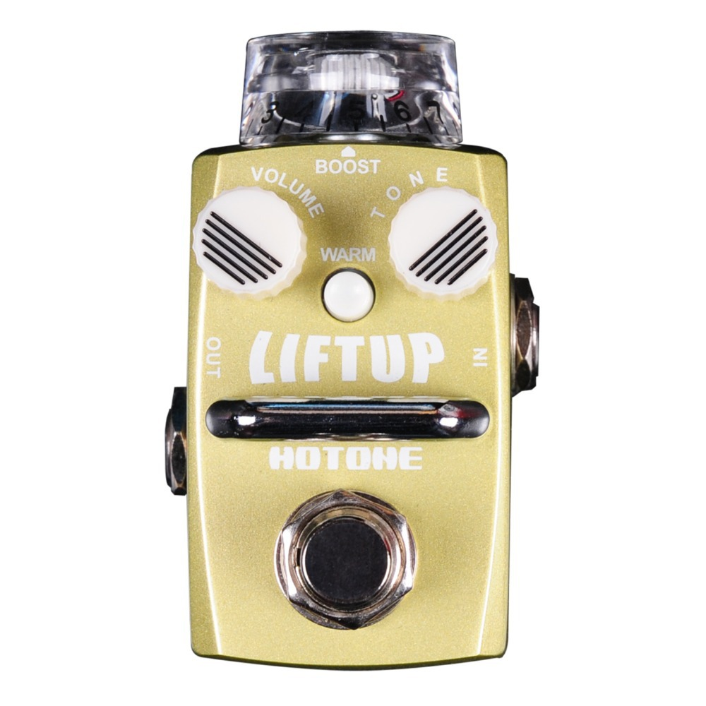 Hotone Liftup Boost Guitar Effect Pedal Raise Volume Boost True Bypass Effects for Electric Guitar mooer ensemble queen bass chorus effect pedal mini guitar effects true bypass with free connector and footswitch topper