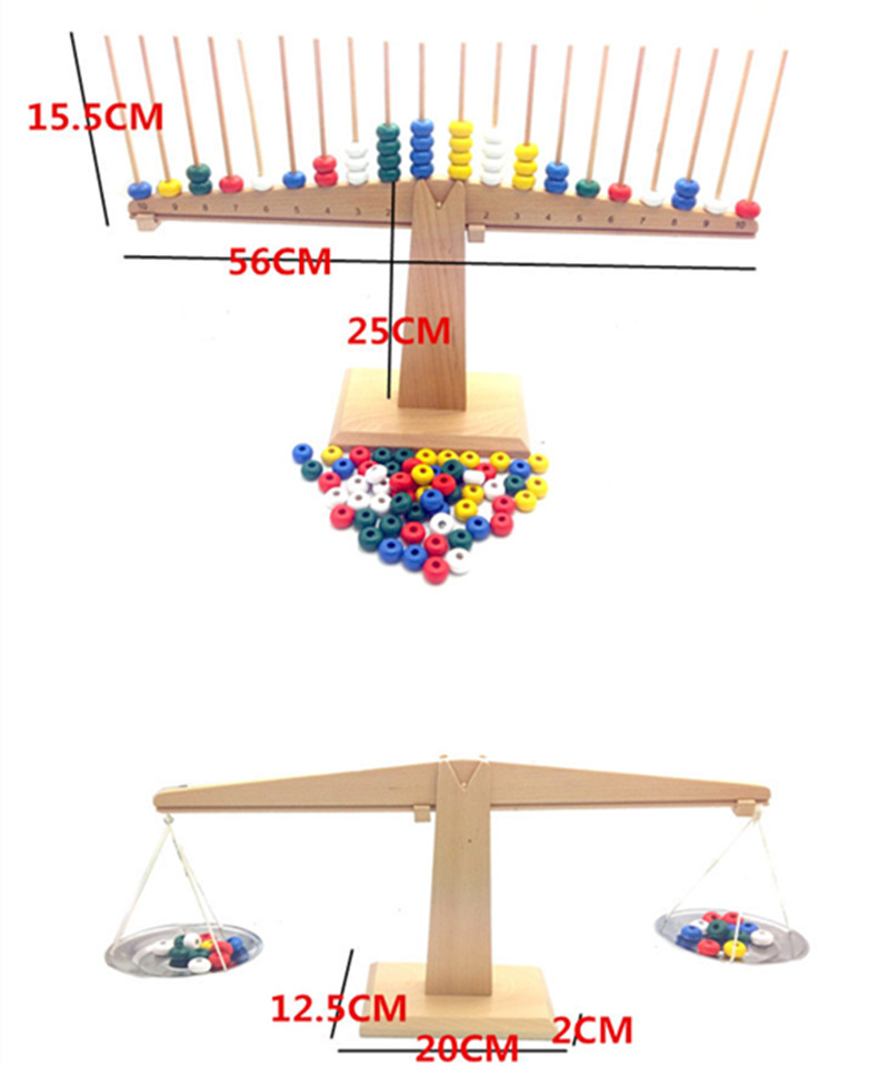 New Wooden Toy Baby Montessori Count Libri and Scale Baby Educational Toy Baby Gift