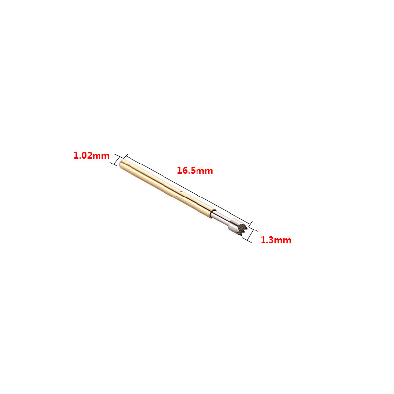 100pcs Lot Spring Contact Probes Dia 1 02mm Length 16mm Conical Head Spring Test Probe Pin Set for PCB Testing Measurment P75 H2 in Springs from Home Improvement