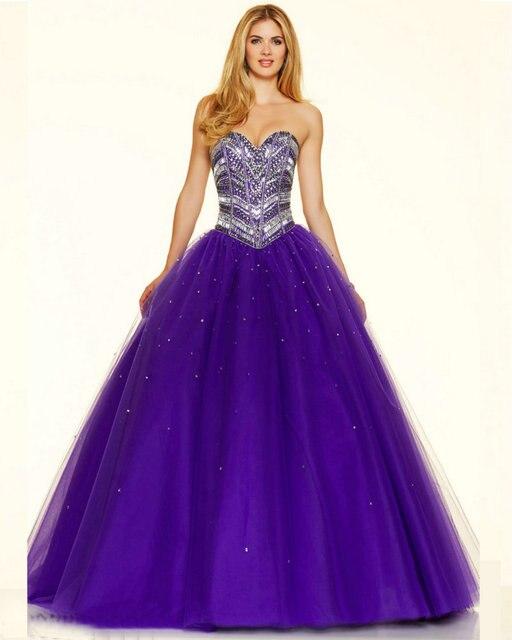 Style 98027 Deep Purple Capri Tulle Ball Gown Prom Dresses Long 2016 ...