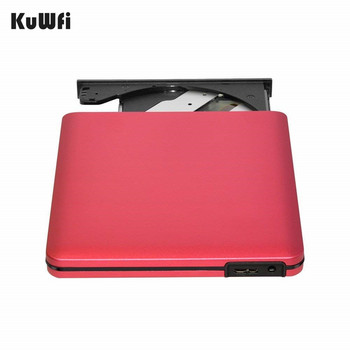 Red External DVD CD Burner Drive USB 3.0...