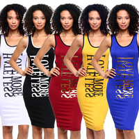 5 colors 2016 summer fashion sexy bodycon club dress elegant women o-neck backless solid casual dresses BH062