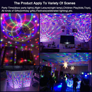 Image 4 - TRANSCTEGO 9 Colors 27W Crystal Magic Ball Led Stage Lamp 21 Mode Disco Laser Light Party Lights Sound Control DMX Lumiere Laser
