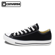 Custom Hand Painted Black Converse Low Top Shoes Canvas Sneakers Price Varies with Designs