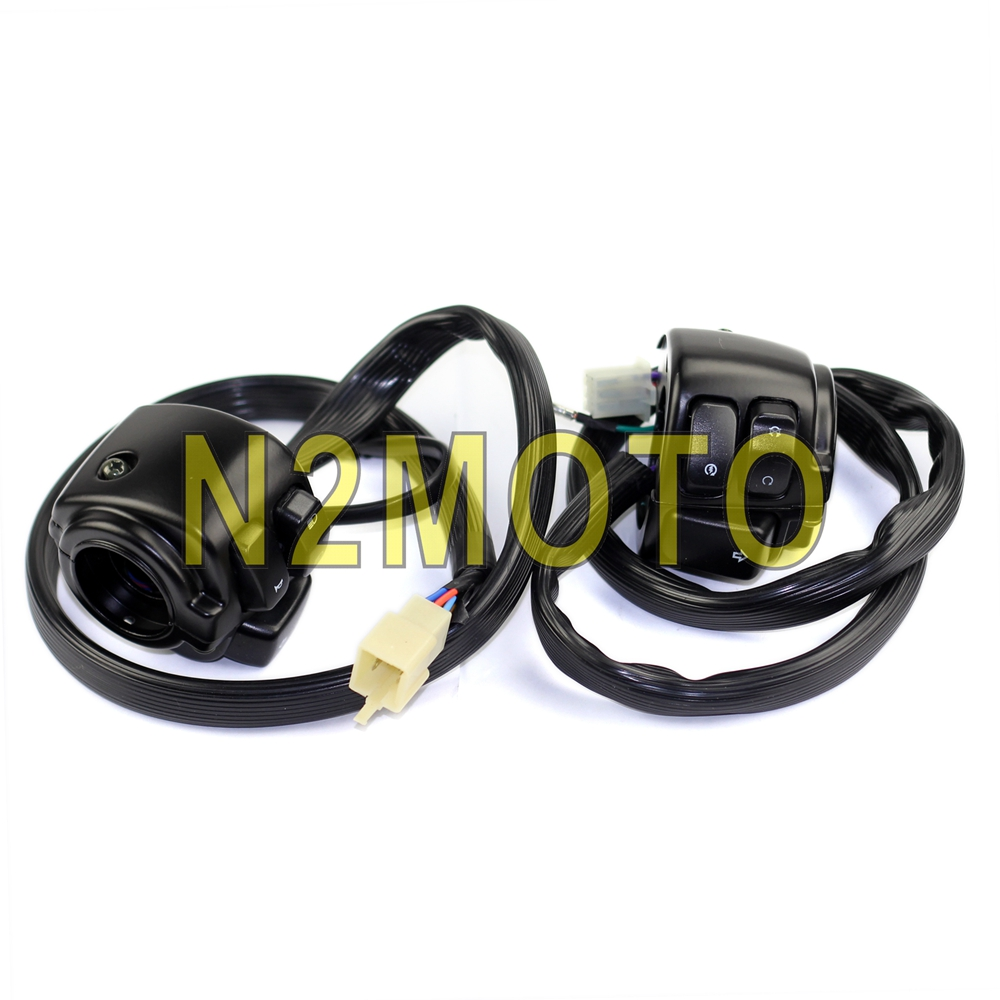 Motorcycle 1 Handlebar Control Switches Wiring Harness For Harley V Rod Wire Plugs Softail Dyna Sportster Black 25mm Handle Bar In Covers Ornamental Mouldings From