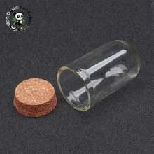 100 шт стеклянные бутылки с прозрачными колоннами тампионами